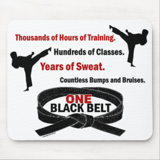 ONE Black Belt 1 KARATE T-SHIRTS & APPAREL Mouse Pad