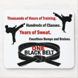 ONE Black Belt 1 KARATE T-SHIRTS & APPAREL Mouse Mat