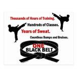ONE Black Belt 1 KARATE T-SHIRTS & APPAREL Post Card