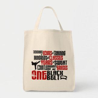 ONE Black Belt 2 KARATE T-SHIRTS & APPAREL Grocery Tote Bag