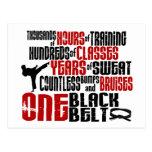 ONE Black Belt 2 KARATE T-SHIRTS & APPAREL Postcard