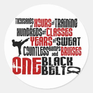 ONE Black Belt 2 KARATE T-SHIRTS & APPAREL Classic Round Sticker