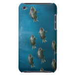 One black sea bass leading a school barely there iPod case