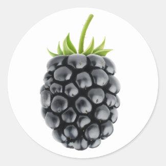 One blackberry classic round sticker
