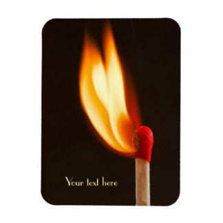 One Blazing Flame Rectangular Photo Magnet