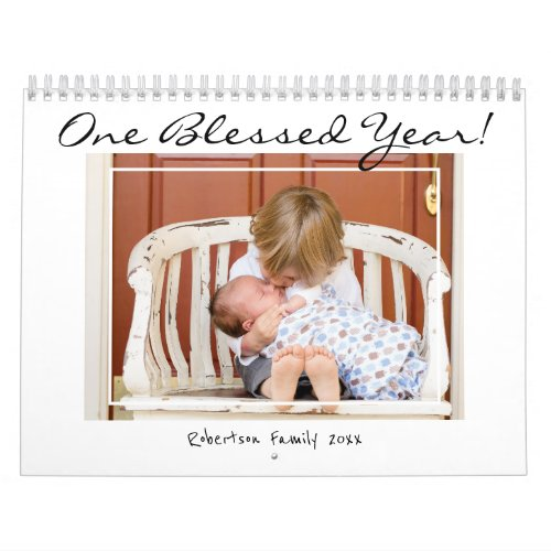 One Blessed Year Multi Family Photo 2020 Calendar