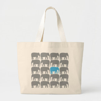 One Blue Elephant in the Herd Bag