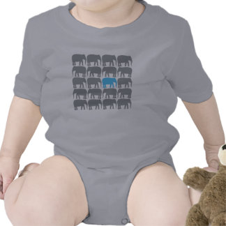 One Blue Elephant in the Herd Shirt