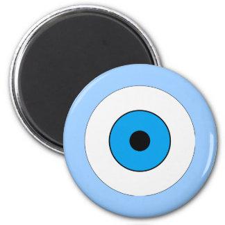 One Blue Eye 2 Inch Round Magnet