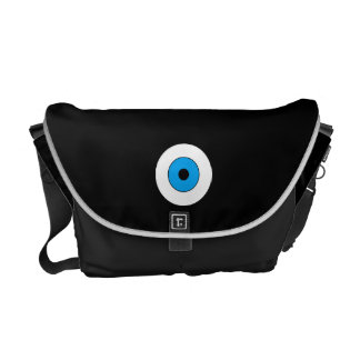 One Blue Eye Courier Bag