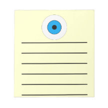 One Blue Eye Memo Note Pads