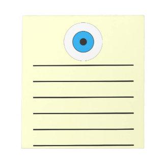 One Blue Eye Memo Note Pads