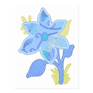 ONE blue flower Postcard
