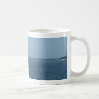 One Boat in a Pacific Bay Coffee Mug
