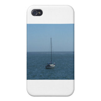 One Boat in a Pacific Bay iPhone 4/4S Cases