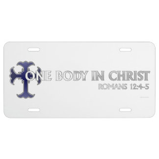 One Body In Christ License Plate