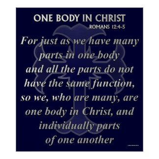 One Body In Christ Poster