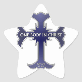 One Body In Christ Star Stickers