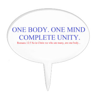 One Body. One Mind. Cake Topper