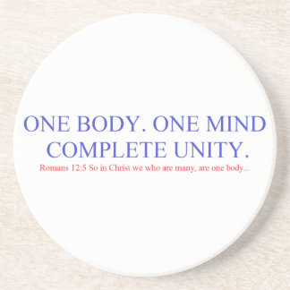 One Body. One Mind. Drink Coaster