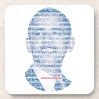 ONE BOLD AMERICAN MAKES A DIFFERENCE COASTERS