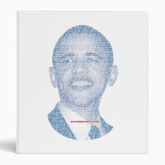 ONE BOLD AMERICAN MAKES A DIFFERENCEORLD 3 RING BINDER
