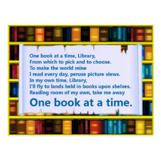 One Book At A Time Postcard