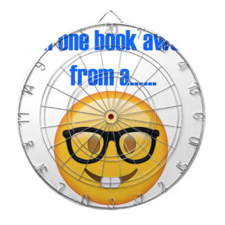 one book away from a.... Emoji Dart Board