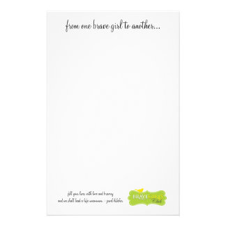 One Brave Girl to Another Stationary Stationery