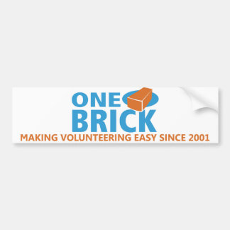 One Brick Bumper Sticker