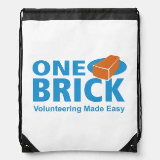 One Brick Logo Drawstring Pack Cinch Bags