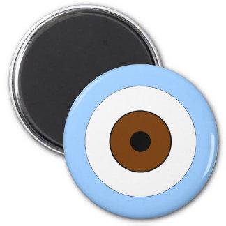 One Brown Eye 2 Inch Round Magnet