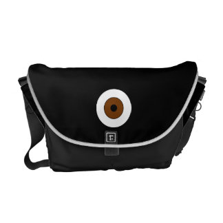 One Brown Eye Courier Bag