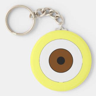 One Brown Eye Keychain