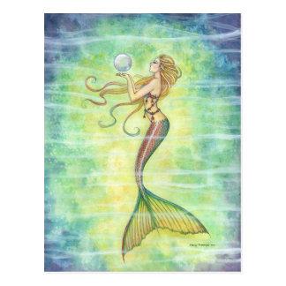 One Bubble Mermaid Postcard
