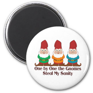 One By One The Gnomes 2 Inch Round Magnet
