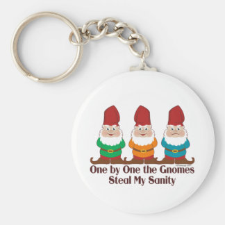 One By One The Gnomes Basic Round Button Keychain