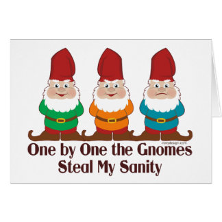 One By One The Gnomes Greeting Card