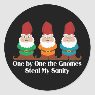 One By One The Gnomes Classic Round Sticker