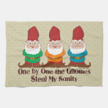 One By One The Gnomes Hand Towel
