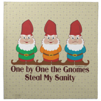 One By One The Gnomes Napkin