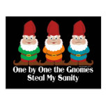 One By One The Gnomes Post Card