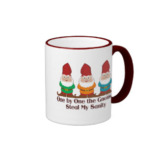 One By One The Gnomes Ringer Mug