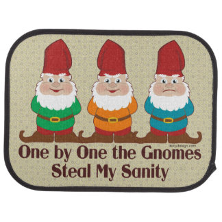 One by one the Gnomes steal my sanity Car Mat