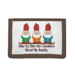 One By One The Gnomes Tri-fold Wallet