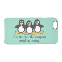 One by One The Penguins (Green) Clear iPhone 6/6S Case