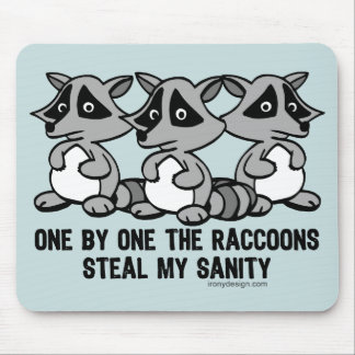 One By One The Raccoons Mouse Pad
