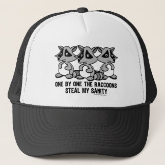 One By One The Raccoons Trucker Hat