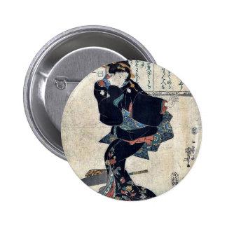 One by Utagawa Kuniyoshi Ukiyoe Buttons