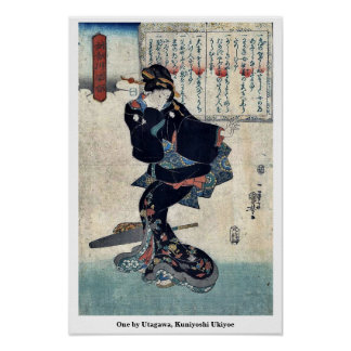 One by Utagawa, Kuniyoshi Ukiyoe Poster
